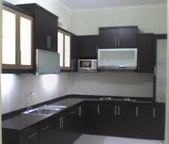 Kitchen set minimalis cat duco aura mebel furniture for Kitchen set hitam