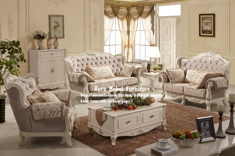 set kursi tamu sofa mewah cat duco aura mebel furniture for meuble 5 etoiles
