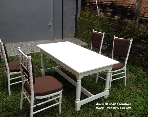 Set Kursi Makan Cat Duco