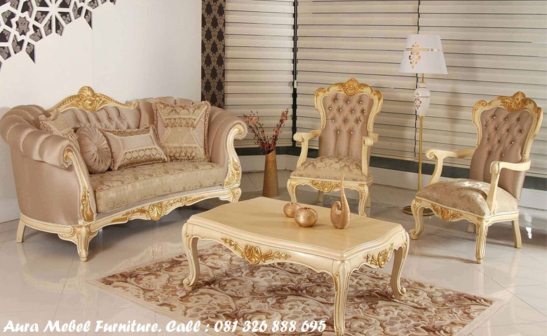 set sofa tamu mewah aura mebel furniture mebel jepara